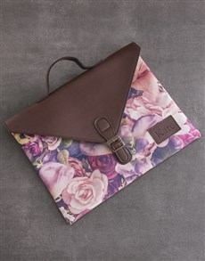 gifts: Personalised Floral Laptop Carry Bag!