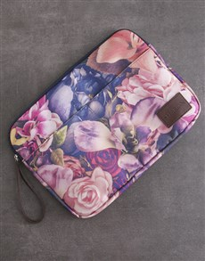 gifts: Personalised Floral Laptop Organiser!
