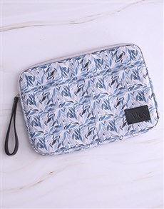 gifts: Personalised Lovely Leafy Blue Laptop Organiser!