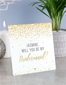 gifts: Personalised Bridesmaid Glass Tile !