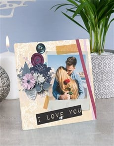 gifts: Personalised I Love You Glass Tile !