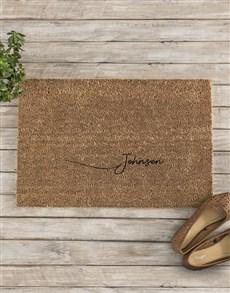 gifts: Personalised Surname Doormat!
