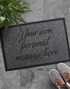 gifts: Personalised Own Message Doormat!