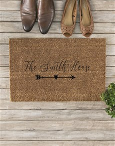 gifts: Personalised Family House Doormat!