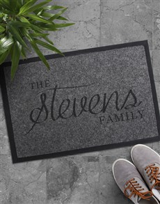 gifts: Personalised The Family Doormat !