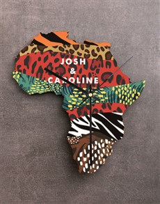 gifts: Personalised Couple Africa Clock!