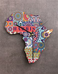 gifts: Personalised Happy Family Africa Clock!