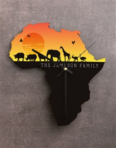 gifts: Personalised Sunset Africa Clock!