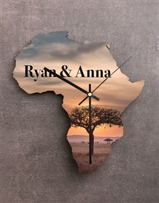 gifts: Personalised Couples Sunset Africa Clock!