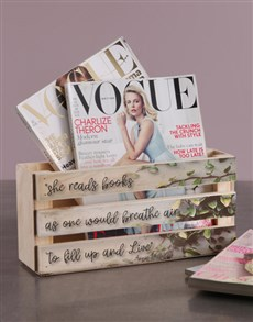 gifts: Personalised She Reads Magazine Rack!