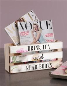 gifts: Personalised Drink Tea Magazine Rack!