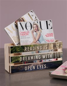 gifts: Personalised Reading is Dreaming Magazine Rack!