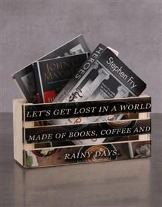 gifts: Personalised World Made Of Books Magazine Rack!
