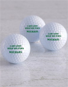 gifts: Personalised Lost Golf Balls!