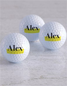 gifts: Personalised Highlight Golf Balls!