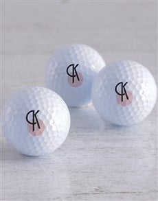 gifts: Personalised Deco Initial Golf Balls!