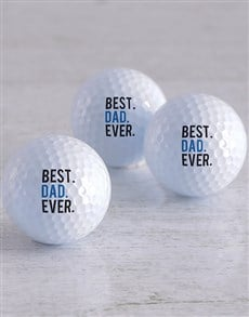 gifts: Personalised Best Ever Golf Balls!