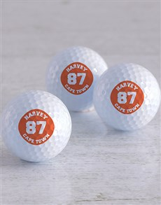 gifts: Personalised Badge Golf Balls!