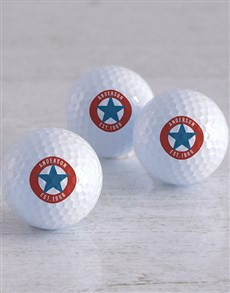 gifts: Personalised Retro Stamp Golf Balls!