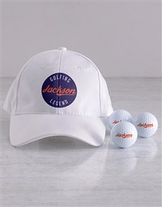 gifts: Personalised Legend Golf Balls and Cap!