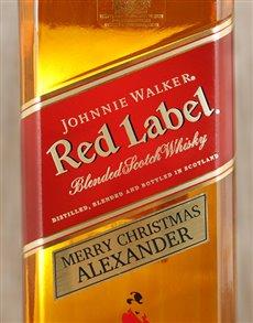 gifts: Personalised Johnnie Walker Red!