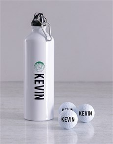 gifts: Personalised Name Golf Balls and Waterbottle!