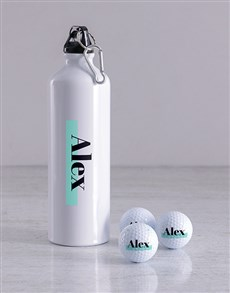 gifts: Personalised Highlight Golf Balls And Waterbottle!