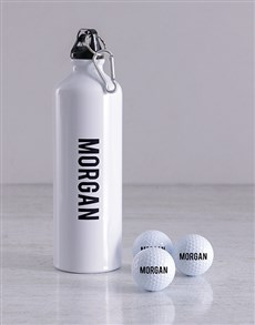 gifts: Personalised Golf Balls and Waterbottle!