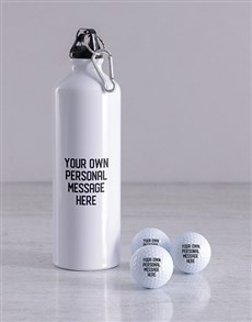 gifts: Personalised Message Golf Balls and Waterbottle!