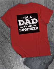 gifts: Personalised Dad and Kickass T Shirt!