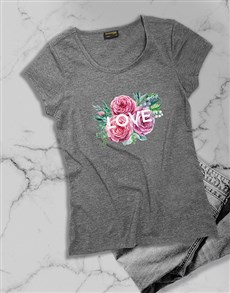 gifts: Personalised Message Flowers Ladies T Shirt!