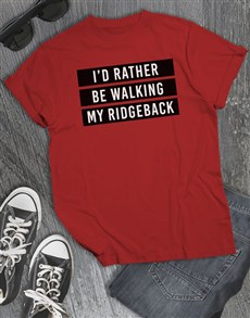 gifts: Personalised Rather Be Walking My Dog T Shirt!