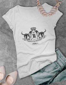 gifts: Personalised Royal Hound Ladies T Shirt!