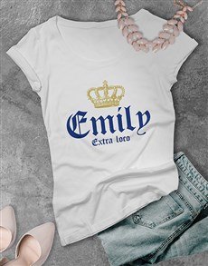 gifts: Personalised Name Extra Loco Ladies T Shirt!