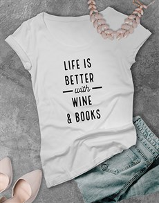 gifts: Personalised Life Is Better With Ladies T Shirt!