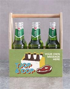 gifts: Personalised Tjop en Dop Man Crate!