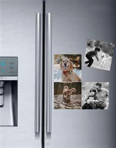 gifts: Personalised Photo Magnets Set Of Four!