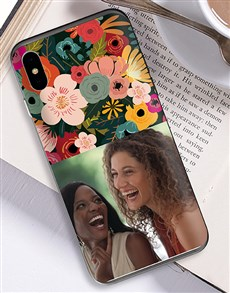 gifts: Personalised Photo Floral iPhone Cover!