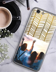 gifts: Personalised Golden Photo iPhone Cover!