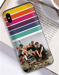 gifts: Personalised Rainbow Photo iPhone Cover!