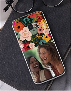 gifts: Personalised Photo Floral Samsung Cover!