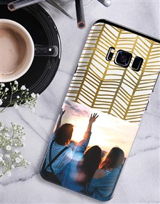 gifts: Personalised Golden Photo Samsung Cover!
