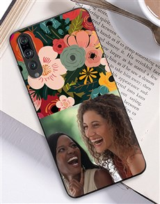 gifts: Personalised Photo Floral Huawei Cover!
