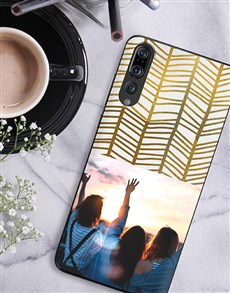 gifts: Personalised Golden Photo Huawei Cover!