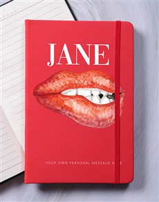 gifts: Personalised Sassy Lips Notebook!