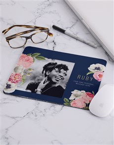 gifts: Personalised Photo Floral Mousepad!