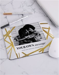 gifts: Personalised Golden Striped Mousepad!