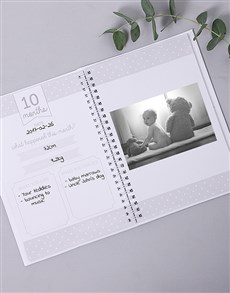 Picture of Personalised Fun Dino Babys First Year Journal!