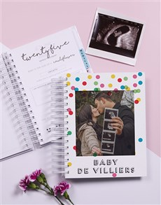 gifts: Personalised Colour Polka Dots Pregnancy Journal!
