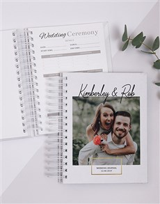 gifts: Personalised Sophisticated Wedding Journal!